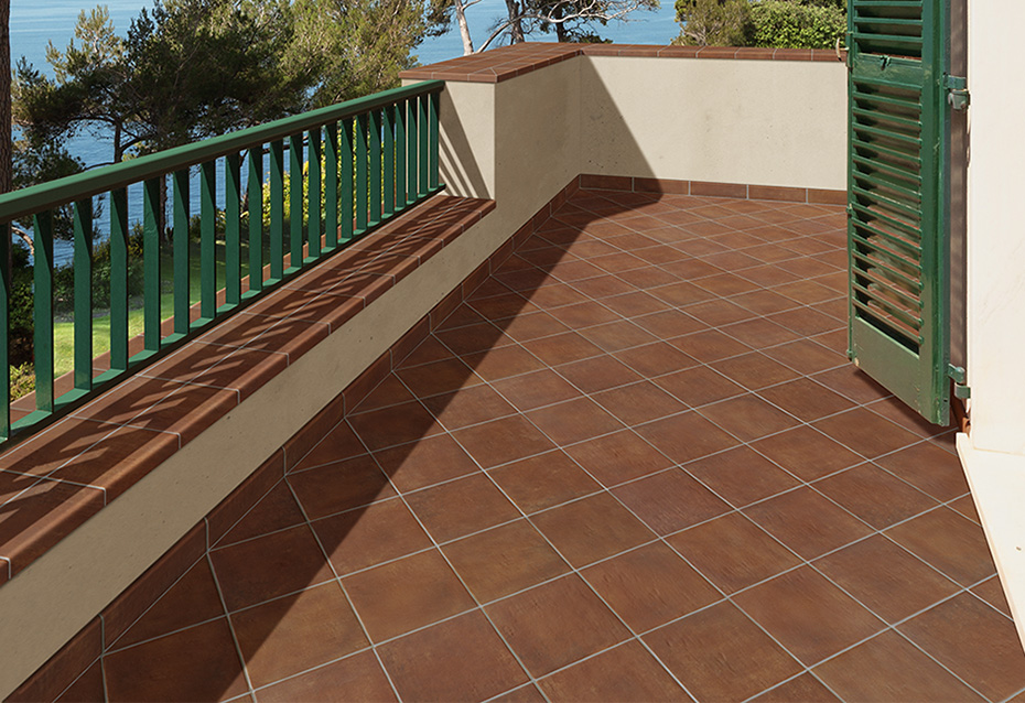 COTTO NATURE SICILIA ANTISLIP 25x25 · VIERTEAGUAS COTTO NATURE SICILIA ANTISLIP 15x25/4 · ZÓCALO COTTO NATURE SICILIA 9x36