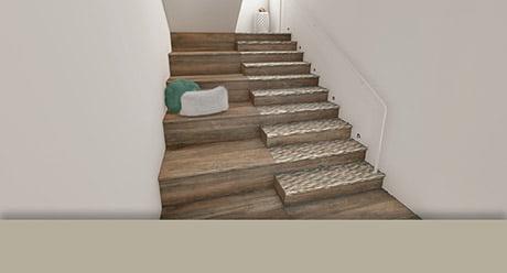 VERSA · TILES MARQUETRY SPIKE-20x120-Ceramica-Natucer