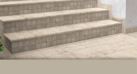 TRAVERTINO REALE-ESCALERAS-Ceramica-Natucer