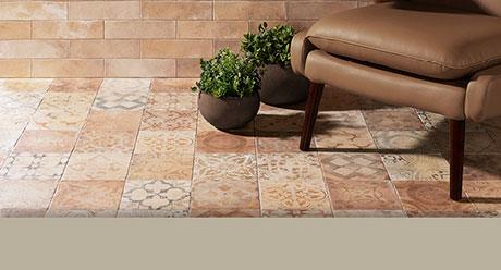 COTTOBELLO MIX STAMPO TERRA-20x20-Ceramica-Natucer
