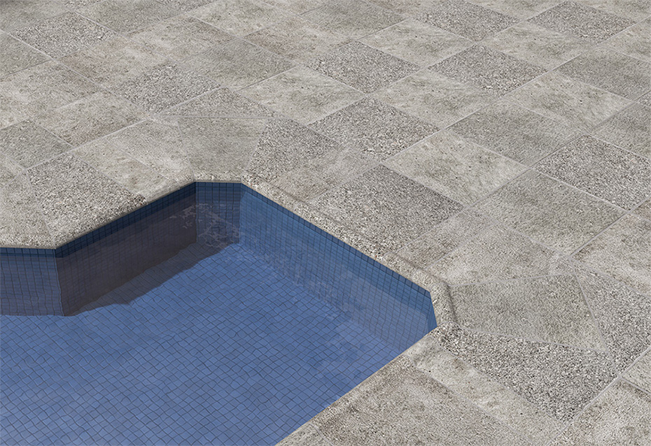 GRANITE GROSSETO 30x30  · BORDE PISCINA GROSSETO 30x36/4 · BORDE PISCINA ESQ INT GROSSETO 51,2x51,2 · BORDE PISCINA ESQ EXT GROSSETO 51,2x51,2