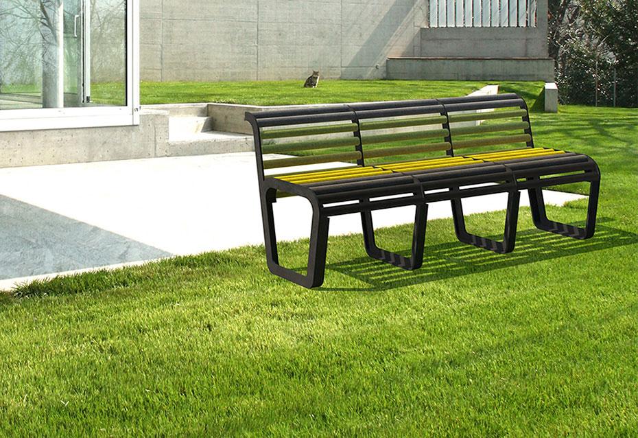 Banco circle mixto mobiliario urbano Natucer