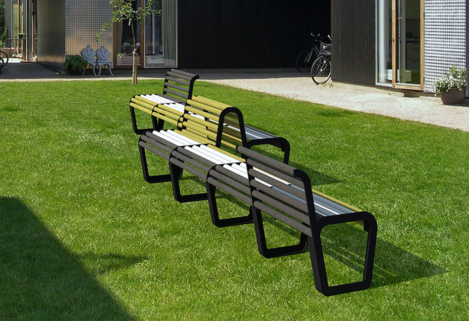 Combinacion banqueta silla circle mobiliario urbano Natucer