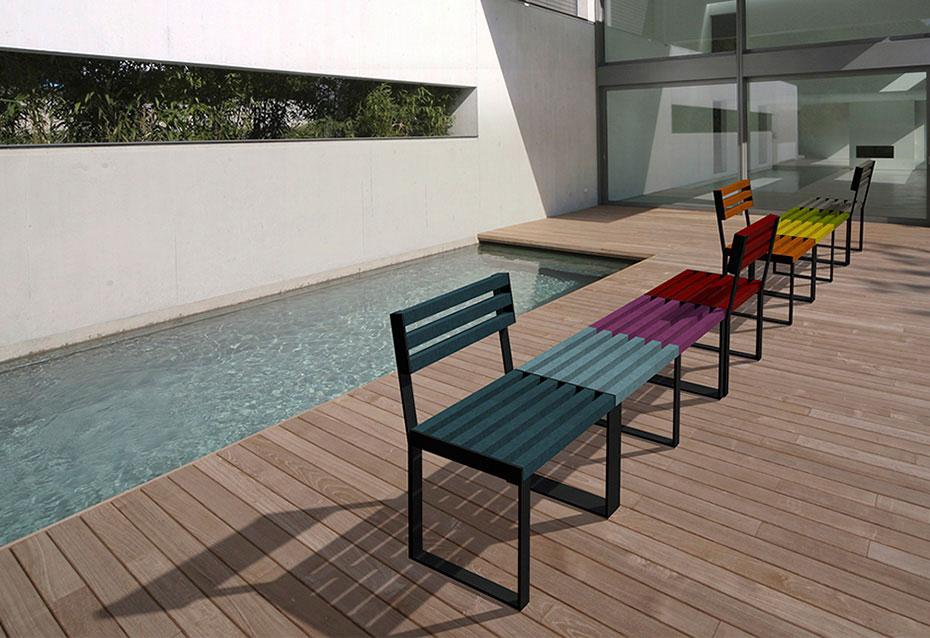 Combinacion banqueta silla classic mobiliario urbano Natucer