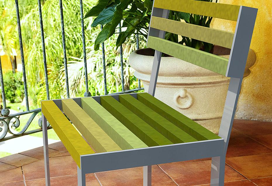 Silla classic mixto mobiliario urbano Natucer