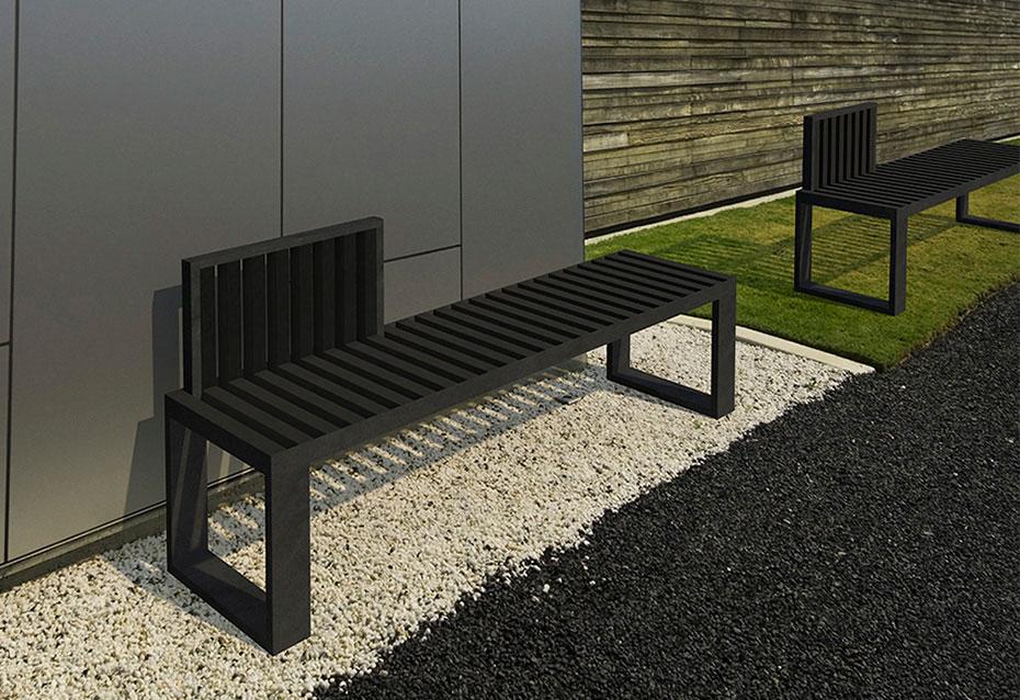Banco respaldo 60 monocolor Minimal mobiliario urbano Natucer
