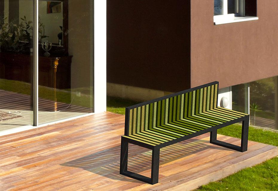 Banco respaldo mixto Minimal mobiliario urbano Natucer