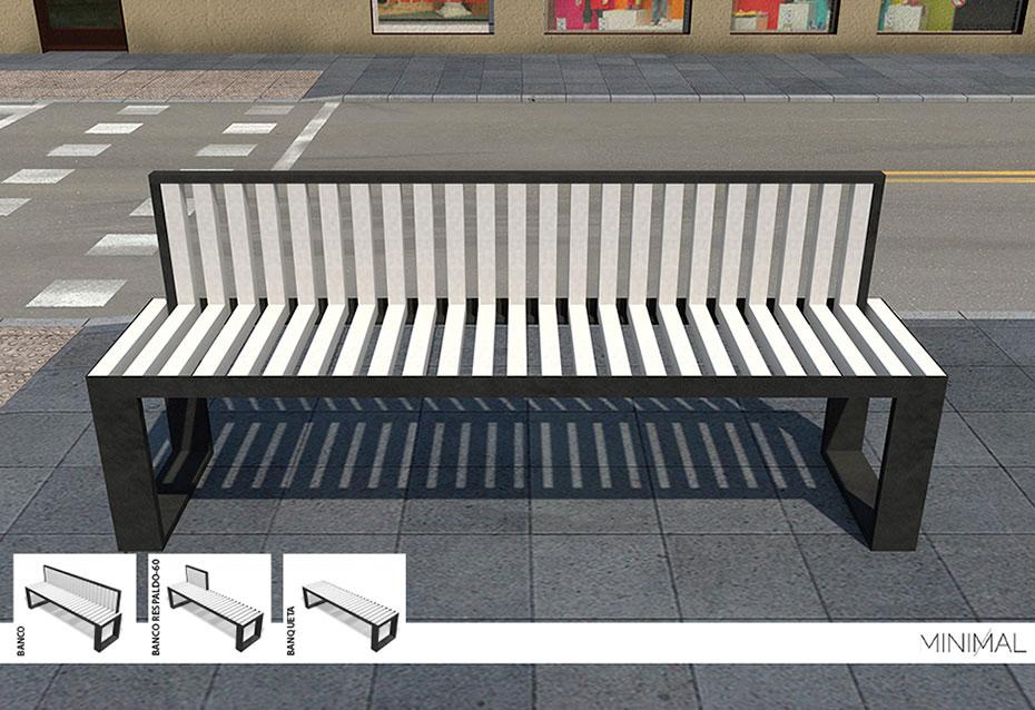 Minimal mobiliario urbano Natucer