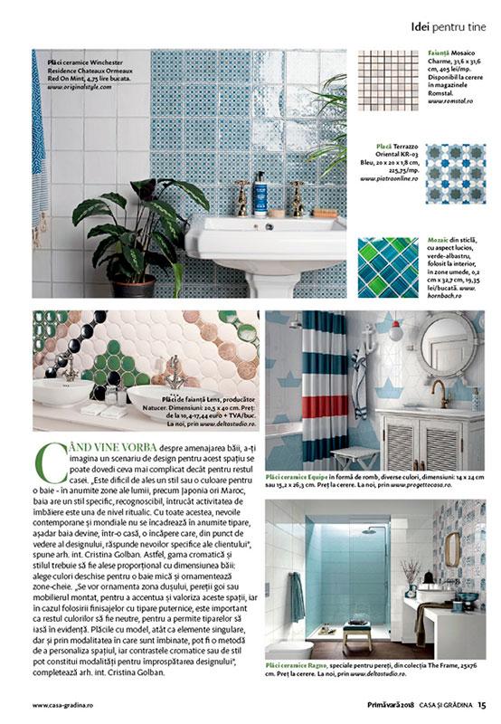 Imagenes Aparición en la revista Casa si Gradina