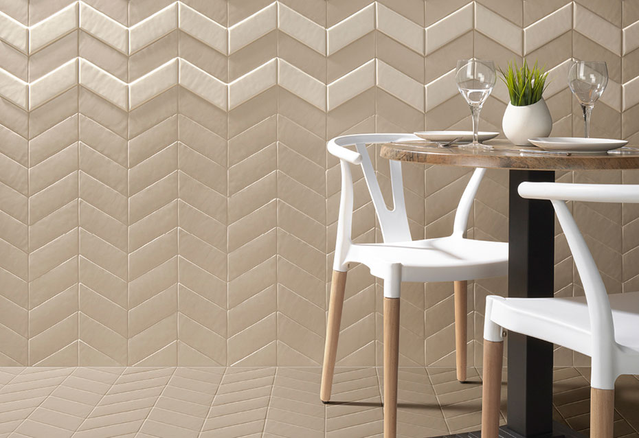 NEW PANAL BEIGE 14 CHEVRON IZQ./DCHA. 17,2x7,3 · NEW PANAL CREAM 10 CHEVRON IZQ./DCHA. 17,2x7,3