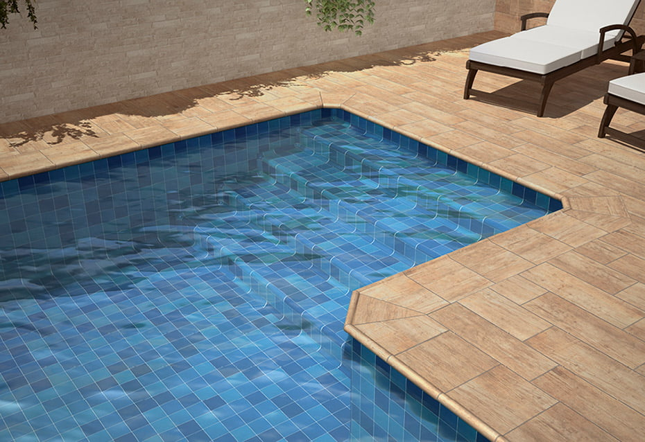 POOL PORC. INDIGO 10x10<br>RIOJA LAGUARDIA 21x60 · BORDE PISCINA · BORDE PISCINA ESQ INT · BORDE PISCINA ESQ. EXT.