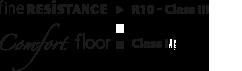 Fine Resistence R10 Class III | Comfort Floor Class I