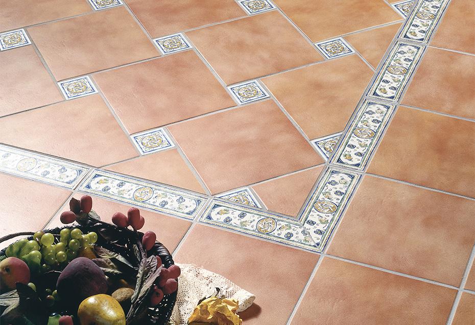 TERRACOTA ARESA 25x25 · TIRA SENIS PORC. 7,5x25 · TACO SENIS PORC. 7,5x7,5